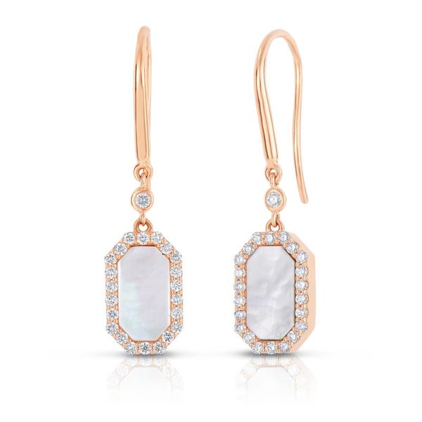 Roberto Coin Diamond Mother of Pearl Earrings Rolland's Jewelers Libertyville, IL