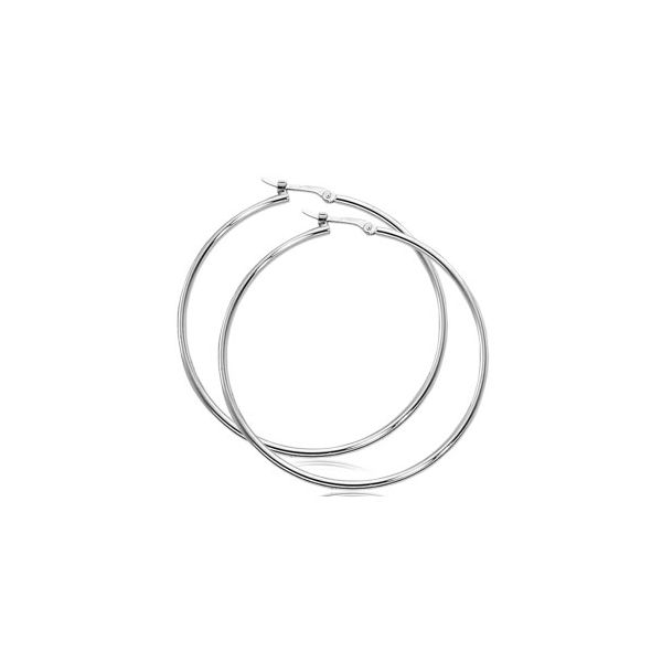 Carla 14K White Gold Hoop Earrings Rolland's Jewelers Libertyville, IL