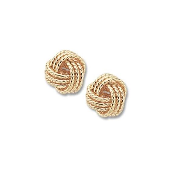 Carla Gold Twisted Love Knot Earrings Rolland's Jewelers Libertyville, IL