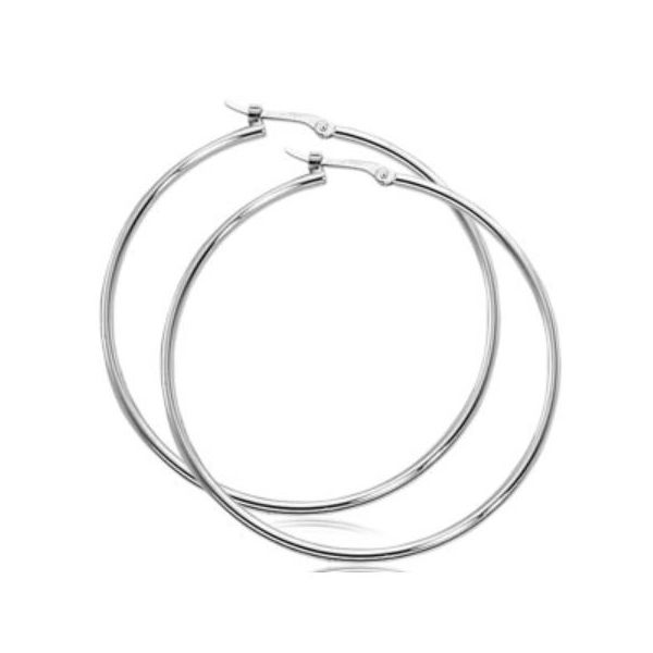 Carla Gold Large Thin Hoop Earrings Rolland's Jewelers Libertyville, IL