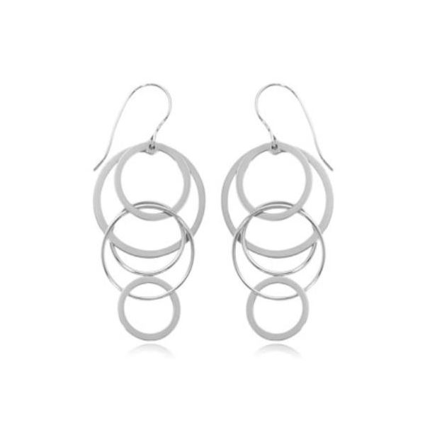 Carla sterling Silver Cascading Circles Earrings Rolland's Jewelers Libertyville, IL