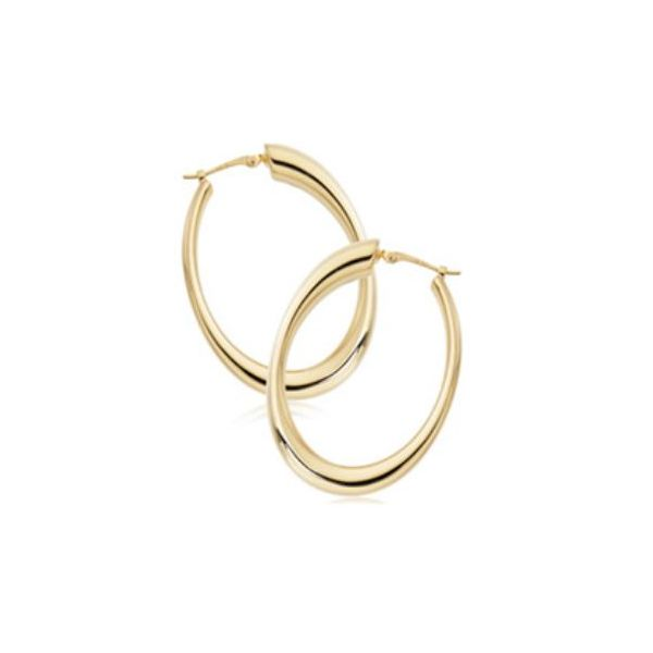 Carla 14K Yellow Gold Small Hoop Earrings Rolland's Jewelers Libertyville, IL