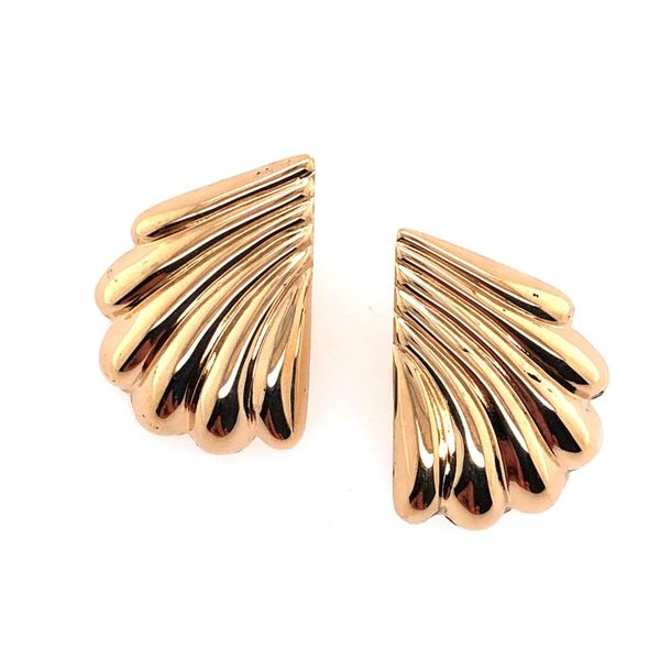Estate 14K yellow Gold Fan Earrings Rolland's Jewelers Libertyville, IL