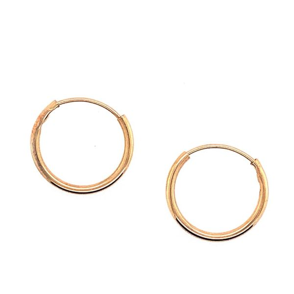 Estate 14K Yellow Gold Small Hoop Earrings Rolland's Jewelers Libertyville, IL