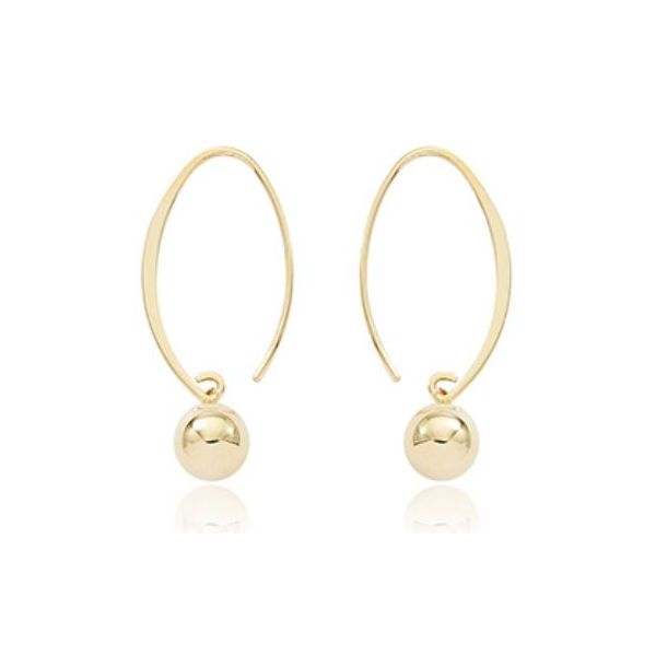 Carla 14K Yellow Gold Small Ball Earrings Rolland's Jewelers Libertyville, IL
