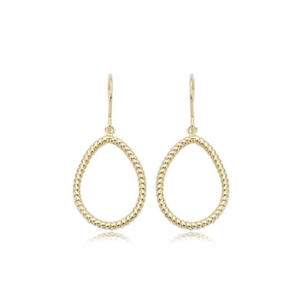 Carla 14K Yellow Gold Pear Shape Earrings Rolland's Jewelers Libertyville, IL