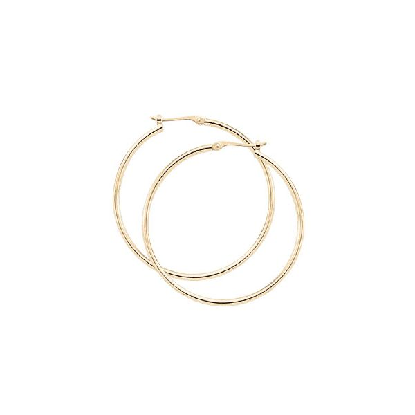 14K Yellow Gold Hoop Earrings Rolland's Jewelers Libertyville, IL