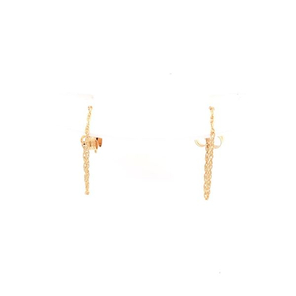 Estate 14K Yellow Gold Rope Chain Earrings Rolland's Jewelers Libertyville, IL