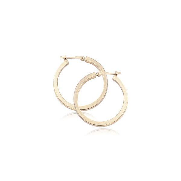 Carla 14K Yellow Gold Hoop Earrings Rolland's Jewelers Libertyville, IL