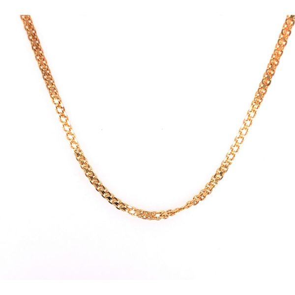 Estate 14K Yellow Gold Flat Style Brick Chain Rolland's Jewelers Libertyville, IL