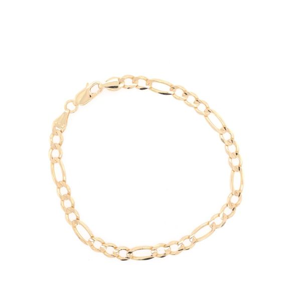 Estate 14K Yellow Gold Figaro Bracelet Rolland's Jewelers Libertyville, IL