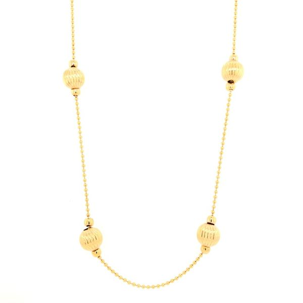 Estate 18K Yellow Gold Station Necklace Rolland's Jewelers Libertyville, IL