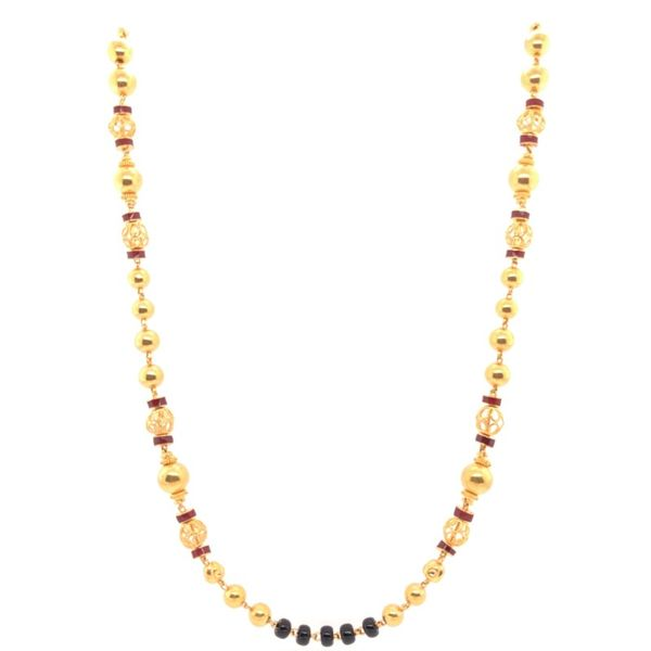 Estate 22K Yellow Gold Beaded Enamel Necklace Rolland's Jewelers Libertyville, IL