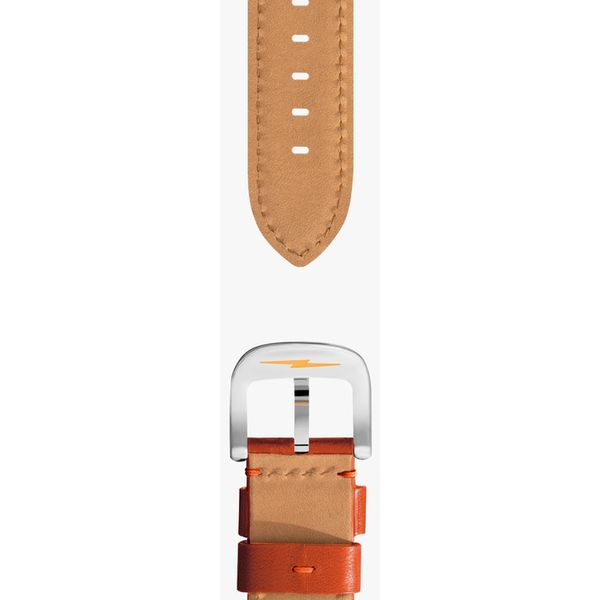 Shinola Orange Leather Watch Strap Image 2 Rolland's Jewelers Libertyville, IL