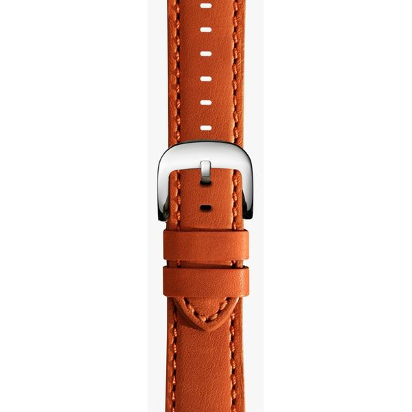 Shinola Orange Leather Watch Strap Rolland's Jewelers Libertyville, IL