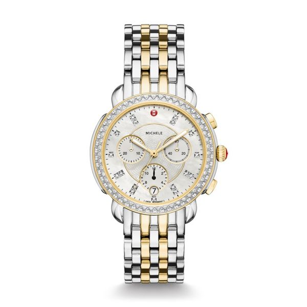Michele Sidney Two Tone Diamond Dial, 18mm Rolland's Jewelers Libertyville, IL