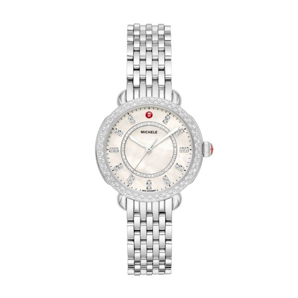 Michele Sidney Classic Diamond Watch, 14mm Rolland's Jewelers Libertyville, IL