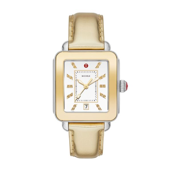 Michele Deco Sport High Shine Gold Mirror Watch Rolland's Jewelers Libertyville, IL