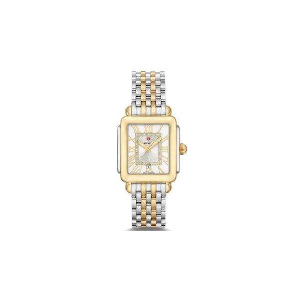Michele Deco Park Two-Tone Diamond Watch, 16mm Rolland's Jewelers Libertyville, IL