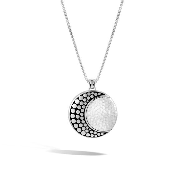 John Hardy Moon Phase Hammered Pendant Rolland's Jewelers Libertyville, IL