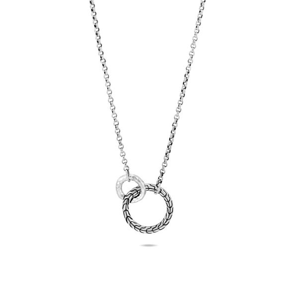 John Hardy Classic Chain Hammered Interlinking Necklace Rolland's Jewelers Libertyville, IL