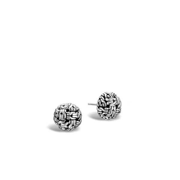 John Hardy Classic Chain Knot Earring Studs Rolland's Jewelers Libertyville, IL