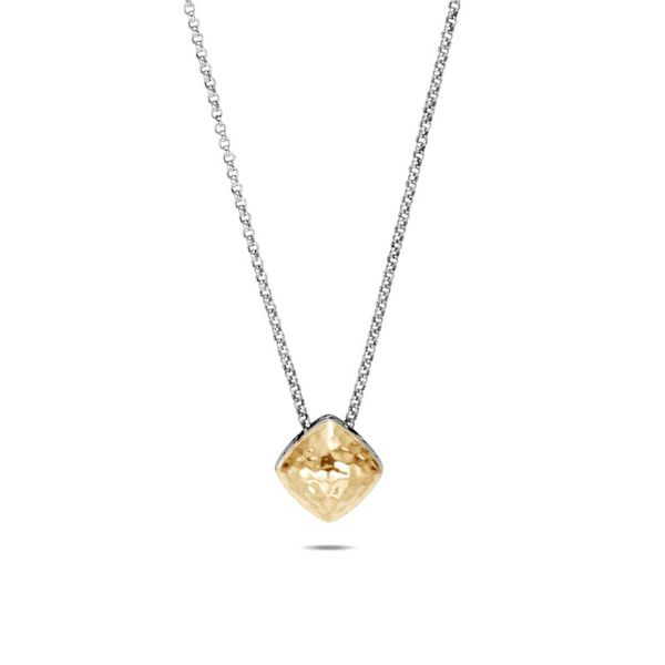 John Hardy Classic Chain Hammered Sugarloaf Pendant Necklace Rolland's Jewelers Libertyville, IL