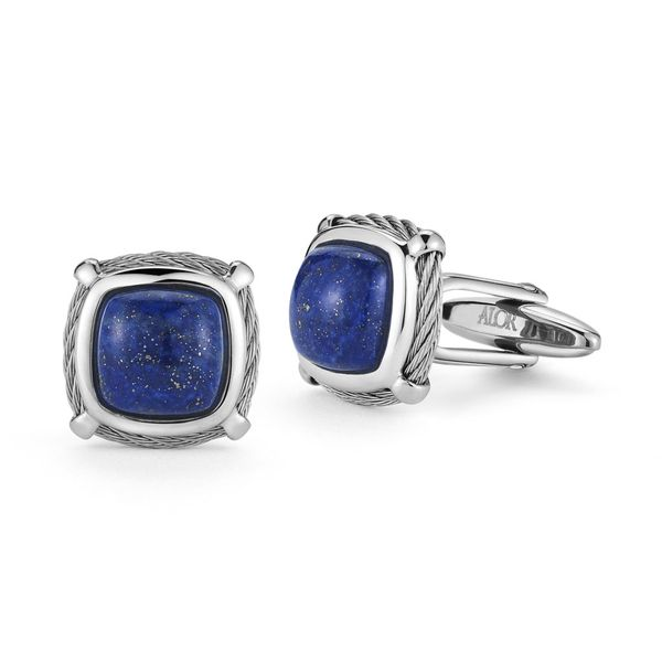 Alor Blue Lapis Cable Cufflinks Rolland's Jewelers Libertyville, IL