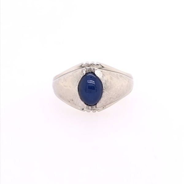 Estate Oval Star Sapphire Gents Ring Rolland's Jewelers Libertyville, IL
