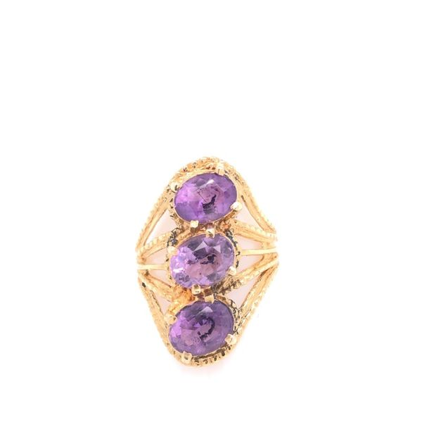 Estate 14K Yellow Gold Amethyst Ring Rolland's Jewelers Libertyville, IL