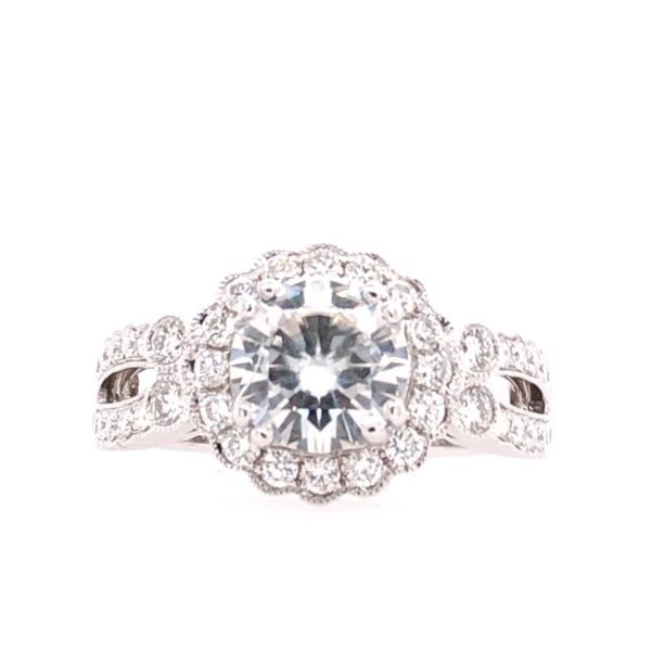 Estate 14K White Gold Moissanite Engagement Ring Rolland's Jewelers Libertyville, IL
