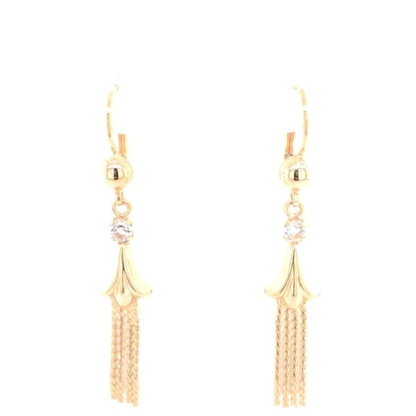Estate 14K Yellow Gold Tassel Earrings Rolland's Jewelers Libertyville, IL