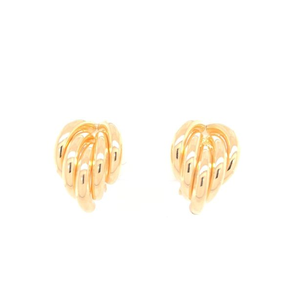 Estate 18K Yellow Gold Omega Back Earrings Rolland's Jewelers Libertyville, IL