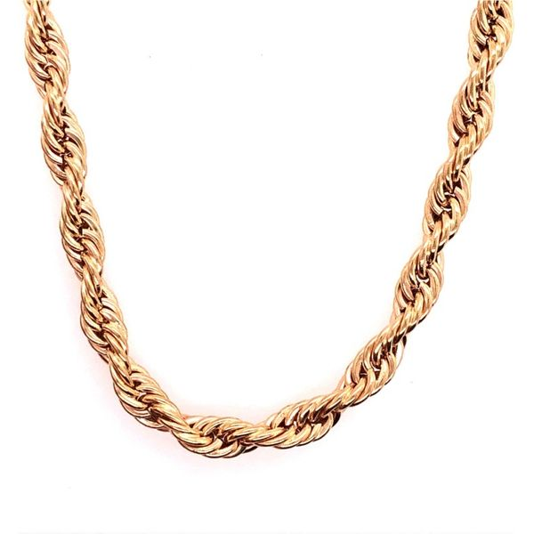 Estate 14k Yellow Gold Rope Chain Rolland's Jewelers Libertyville, IL