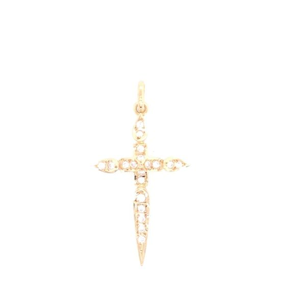 Estate 14K Yellow Gold Cross Pendant Rolland's Jewelers Libertyville, IL
