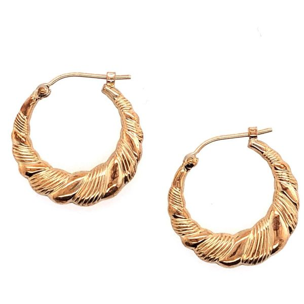 Estate 14K Yellow Gold Hoop Earrings Rolland's Jewelers Libertyville, IL