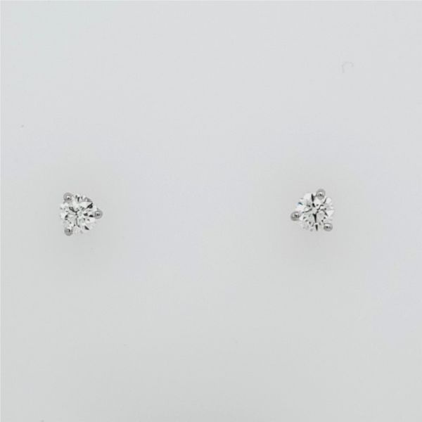Three-Prong Stud Earrings Image 3 Ross Elliott Jewelers Terre Haute, IN
