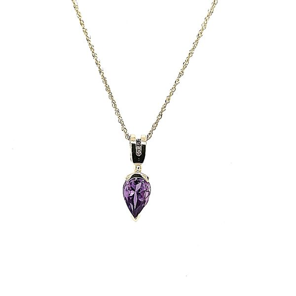 Amethyst and Diamond Pendant Ross Elliott Jewelers Terre Haute, IN