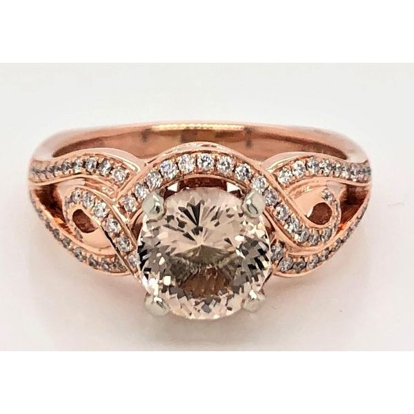 Rose Gold Morganite Ring 001 100 00749 14kr Pullman Sam Dial Jewelers Pullman Wa