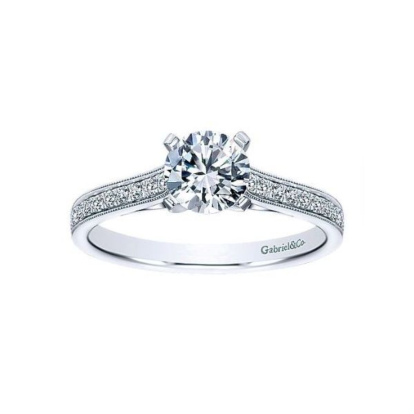 Cathedral Solitaire Engagement Ring Sam Dial Jewelers Pullman, WA