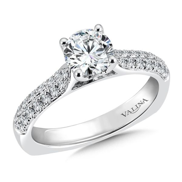 Pave Solitaire Engagement Ring Sam Dial Jewelers Pullman, WA