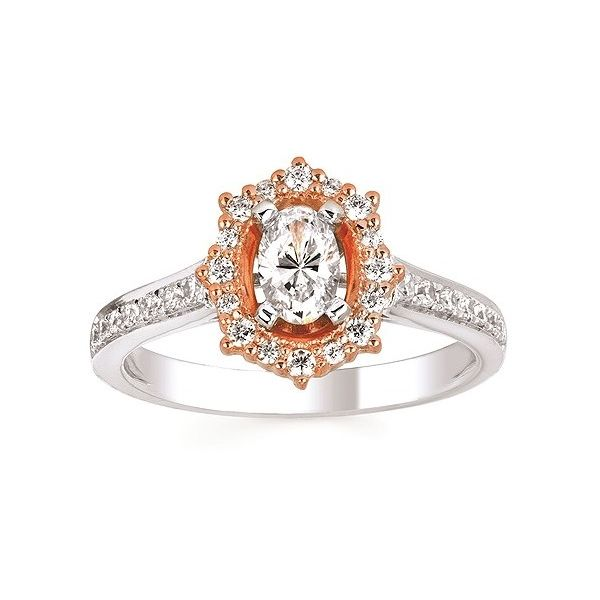 Rose Crown Halo Engagement Ring Sam Dial Jewelers Pullman, WA