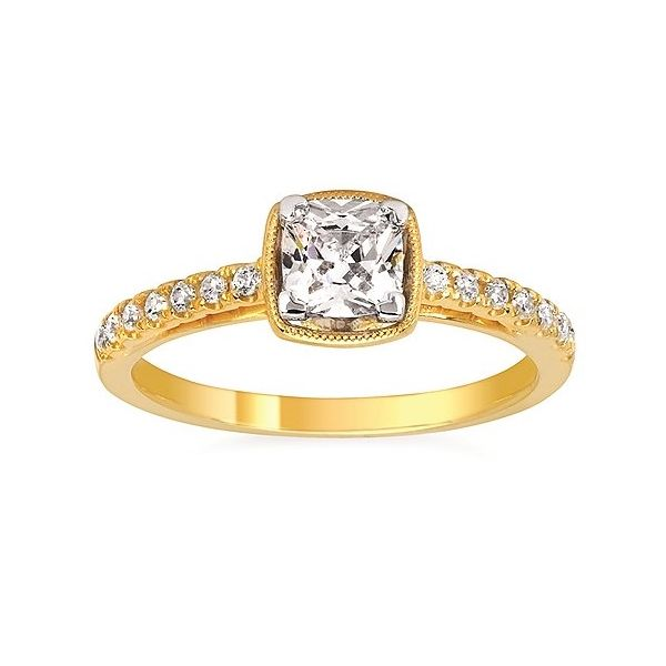 Cushion Engagement Ring Sam Dial Jewelers Pullman, WA