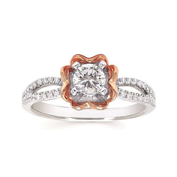 Rose Flower Engagement Ring Sam Dial Jewelers Pullman, WA