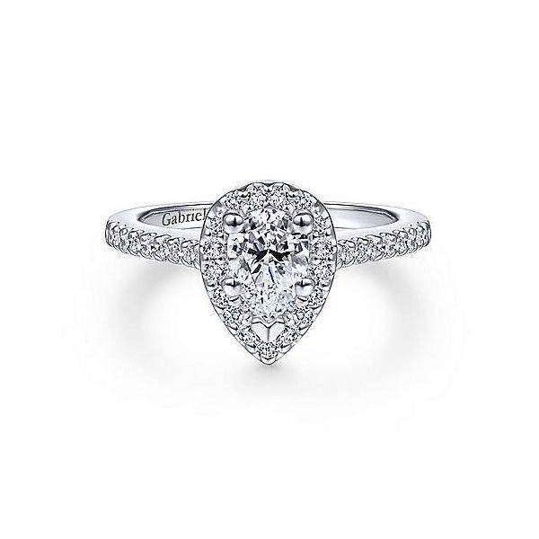 Pear Halo Engagement Ring Sam Dial Jewelers Pullman, WA