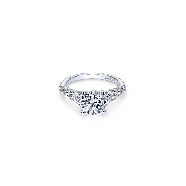 White Gold Solitaire Engagement Ring Sam Dial Jewelers Pullman, WA
