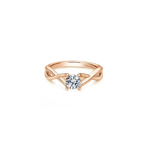 Rose Gold Solitaire Engagement Ring Sam Dial Jewelers Pullman, WA