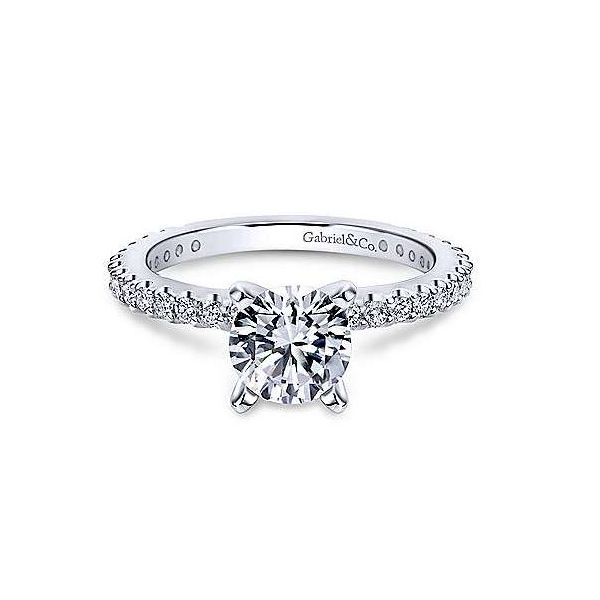 Diamond solitaire engagement ring Sam Dial Jewelers Pullman, WA