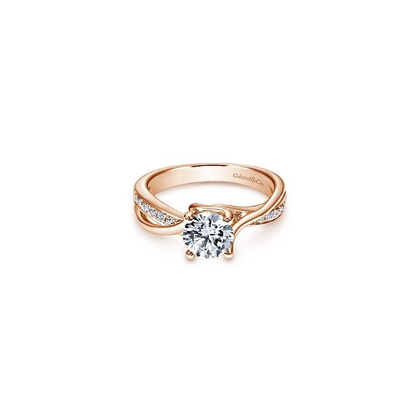 Rose Gold Diamond Engagement Ring Sam Dial Jewelers Pullman, WA