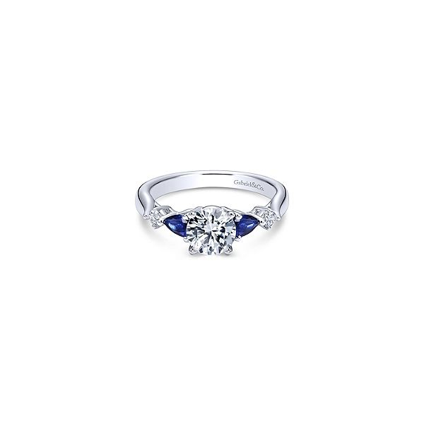 Diamond and Sapphire Engagement Ring Sam Dial Jewelers Pullman, WA